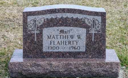 FLAHERTY, MATTHEW W - Richland County, Ohio | MATTHEW W FLAHERTY - Ohio Gravestone Photos