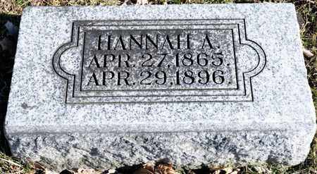 FLASHER, HANNAH A - Richland County, Ohio | HANNAH A FLASHER - Ohio Gravestone Photos