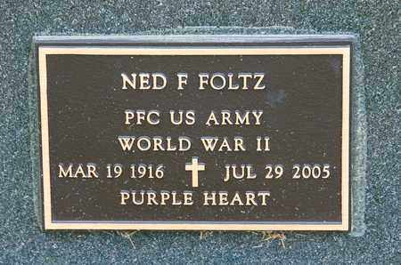 FOLTZ, NED F - Richland County, Ohio | NED F FOLTZ - Ohio Gravestone Photos