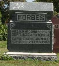 FORBES, SARAH JANE - Richland County, Ohio | SARAH JANE FORBES - Ohio Gravestone Photos