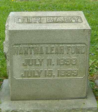 FORD, MARTHA LEAH - Richland County, Ohio | MARTHA LEAH FORD - Ohio Gravestone Photos