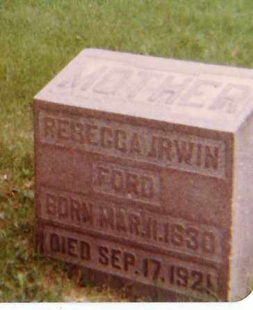 FORD, REBECCA - Richland County, Ohio | REBECCA FORD - Ohio Gravestone Photos