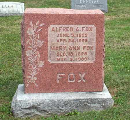 FOX, ALFRED A. - Richland County, Ohio | ALFRED A. FOX - Ohio Gravestone Photos