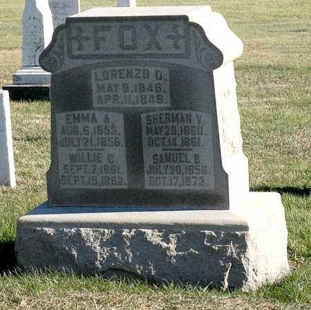 FOX, SHERMAN V - Richland County, Ohio | SHERMAN V FOX - Ohio Gravestone Photos