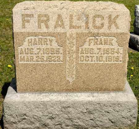 FRALICK, HARRY - Richland County, Ohio | HARRY FRALICK - Ohio Gravestone Photos