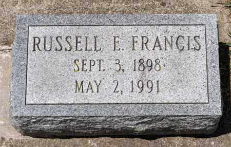 FRANCIS, RUSSELL E - Richland County, Ohio | RUSSELL E FRANCIS - Ohio Gravestone Photos