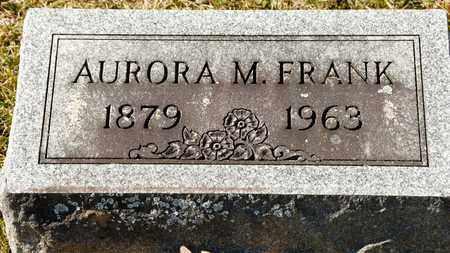 FRANK, AURORA M - Richland County, Ohio | AURORA M FRANK - Ohio Gravestone Photos