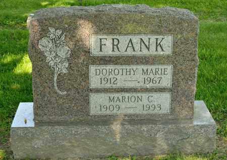 FRANK, MARION C - Richland County, Ohio | MARION C FRANK - Ohio Gravestone Photos