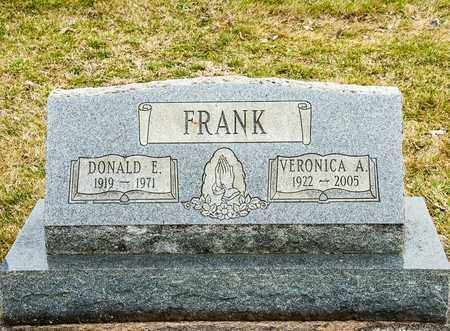 FRANK, DONALD E - Richland County, Ohio | DONALD E FRANK - Ohio Gravestone Photos