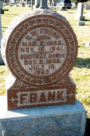 FRANK, G W - Richland County, Ohio | G W FRANK - Ohio Gravestone Photos
