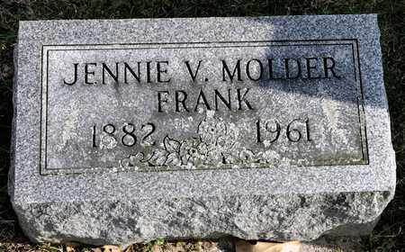 FRANK, JENNIE V - Richland County, Ohio | JENNIE V FRANK - Ohio Gravestone Photos