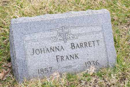 BARRETT FRANK, JOHANNA - Richland County, Ohio | JOHANNA BARRETT FRANK - Ohio Gravestone Photos