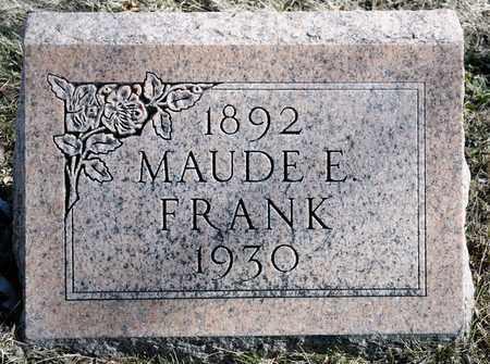 FRANK, MAUDE E - Richland County, Ohio | MAUDE E FRANK - Ohio Gravestone Photos