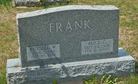 FRANK, RUSSELL W - Richland County, Ohio | RUSSELL W FRANK - Ohio Gravestone Photos