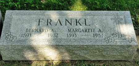 FRANKL, BERNARD A - Richland County, Ohio | BERNARD A FRANKL - Ohio Gravestone Photos