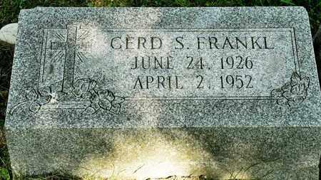FRANKL, GERD S - Richland County, Ohio | GERD S FRANKL - Ohio Gravestone Photos