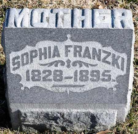 FRANZKI, SOPHIA - Richland County, Ohio | SOPHIA FRANZKI - Ohio Gravestone Photos