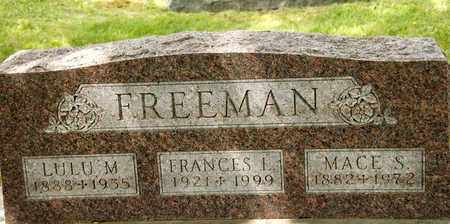 FREEMAN, LULU M - Richland County, Ohio | LULU M FREEMAN - Ohio Gravestone Photos