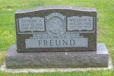FREUND, ESTHER A. - Richland County, Ohio | ESTHER A. FREUND - Ohio Gravestone Photos