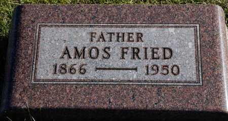 FRIED, AMOS - Richland County, Ohio   AMOS FRIED - Ohio Gravestone Photos