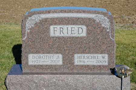 FRIED, DOROTHY J - Richland County, Ohio | DOROTHY J FRIED - Ohio Gravestone Photos