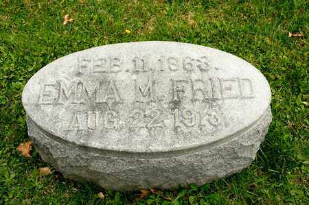 FRIED, EMMA M - Richland County, Ohio | EMMA M FRIED - Ohio Gravestone Photos