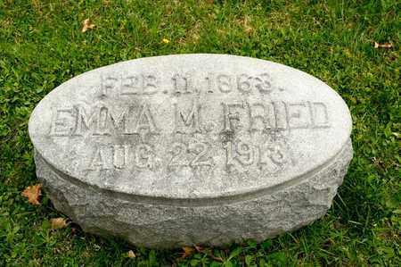 FRIED, EMMA M - Richland County, Ohio | EMMA M FRIED - Ohio Gravestone Photos