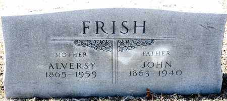 FRISH, ALVERSY - Richland County, Ohio | ALVERSY FRISH - Ohio Gravestone Photos