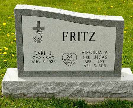 LUCAS FRITZ, VIRGINIA A - Richland County, Ohio | VIRGINIA A LUCAS FRITZ - Ohio Gravestone Photos