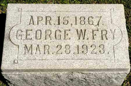 FRY, GEORGE W - Richland County, Ohio | GEORGE W FRY - Ohio Gravestone Photos