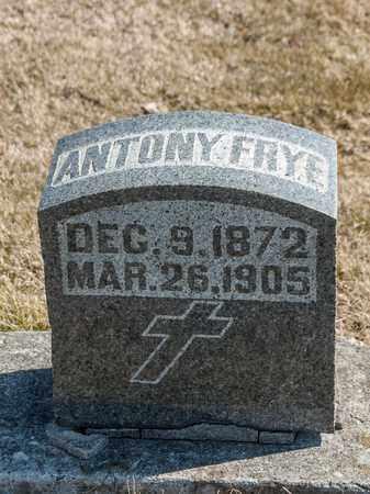 FRYE, ANTONY - Richland County, Ohio | ANTONY FRYE - Ohio Gravestone Photos