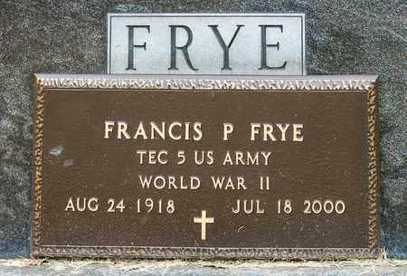 FRYE, FRANCIS P - Richland County, Ohio | FRANCIS P FRYE - Ohio Gravestone Photos