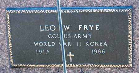 FRYE, LEO W - Richland County, Ohio | LEO W FRYE - Ohio Gravestone Photos