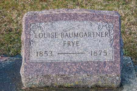 BAUMGARTNER FRYE, LOUISE - Richland County, Ohio | LOUISE BAUMGARTNER FRYE - Ohio Gravestone Photos