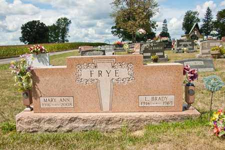 FRYE, MARY ANN - Richland County, Ohio | MARY ANN FRYE - Ohio Gravestone Photos