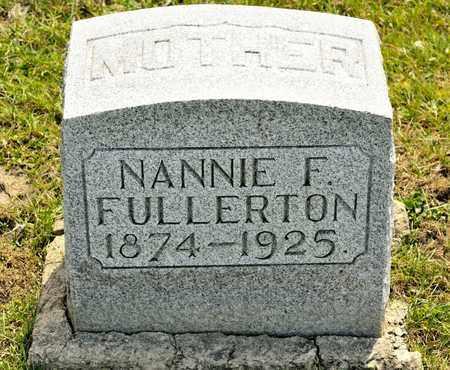 FULLERTON, NANNIE F - Richland County, Ohio | NANNIE F FULLERTON - Ohio Gravestone Photos