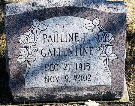 GALLENTINE, PAULINE L - Richland County, Ohio | PAULINE L GALLENTINE - Ohio Gravestone Photos