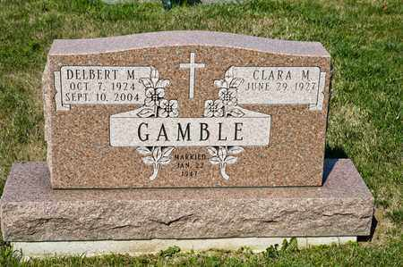 GAMBLE, DELBERT M - Richland County, Ohio | DELBERT M GAMBLE - Ohio Gravestone Photos