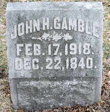 GAMBLE, JOHN H - Richland County, Ohio | JOHN H GAMBLE - Ohio Gravestone Photos