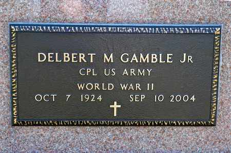 GAMBLE JR, DELBERT M - Richland County, Ohio | DELBERT M GAMBLE JR - Ohio Gravestone Photos