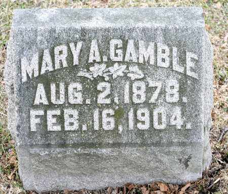GAMBLE, MARY A - Richland County, Ohio | MARY A GAMBLE - Ohio Gravestone Photos