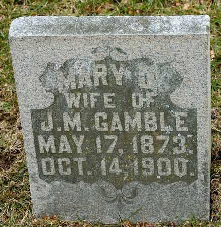 GAMBLE, MARY D - Richland County, Ohio | MARY D GAMBLE - Ohio Gravestone Photos