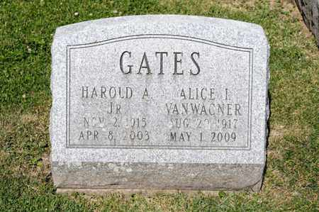 VANWAGNER GATES, ALICE I - Richland County, Ohio | ALICE I VANWAGNER GATES - Ohio Gravestone Photos