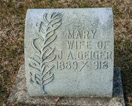 GEIGER, MARY - Richland County, Ohio | MARY GEIGER - Ohio Gravestone Photos