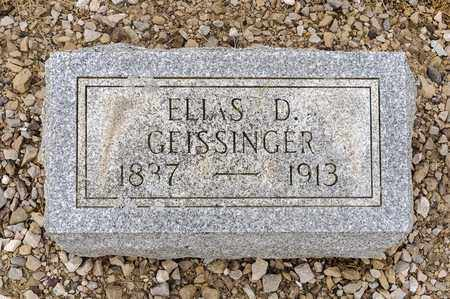 GEISSINGER, ELLAS D - Richland County, Ohio | ELLAS D GEISSINGER - Ohio Gravestone Photos
