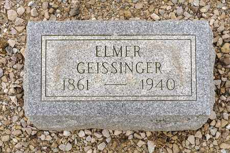 GEISSINGER, ELMER - Richland County, Ohio | ELMER GEISSINGER - Ohio Gravestone Photos
