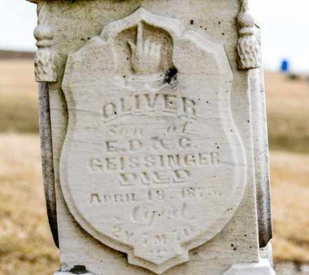 GEISSINGER, OLIVER - Richland County, Ohio | OLIVER GEISSINGER - Ohio Gravestone Photos