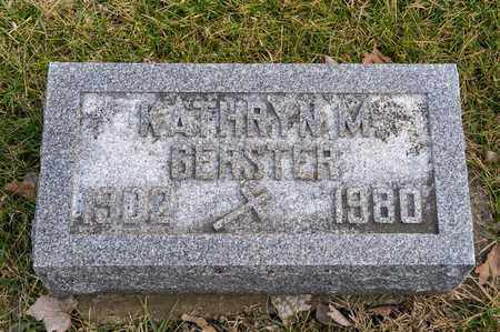 GERSTER, KATHRYN M - Richland County, Ohio | KATHRYN M GERSTER - Ohio Gravestone Photos