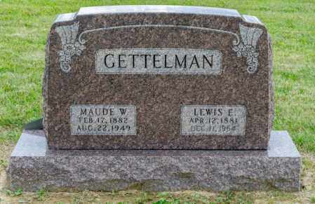 GETTELMAN, MAUDE W - Richland County, Ohio | MAUDE W GETTELMAN - Ohio Gravestone Photos