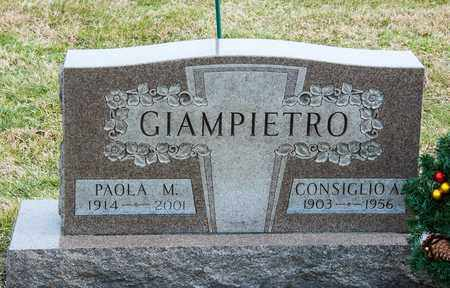 GIAMPIETRO, CONSIGLIO A - Richland County, Ohio | CONSIGLIO A GIAMPIETRO - Ohio Gravestone Photos